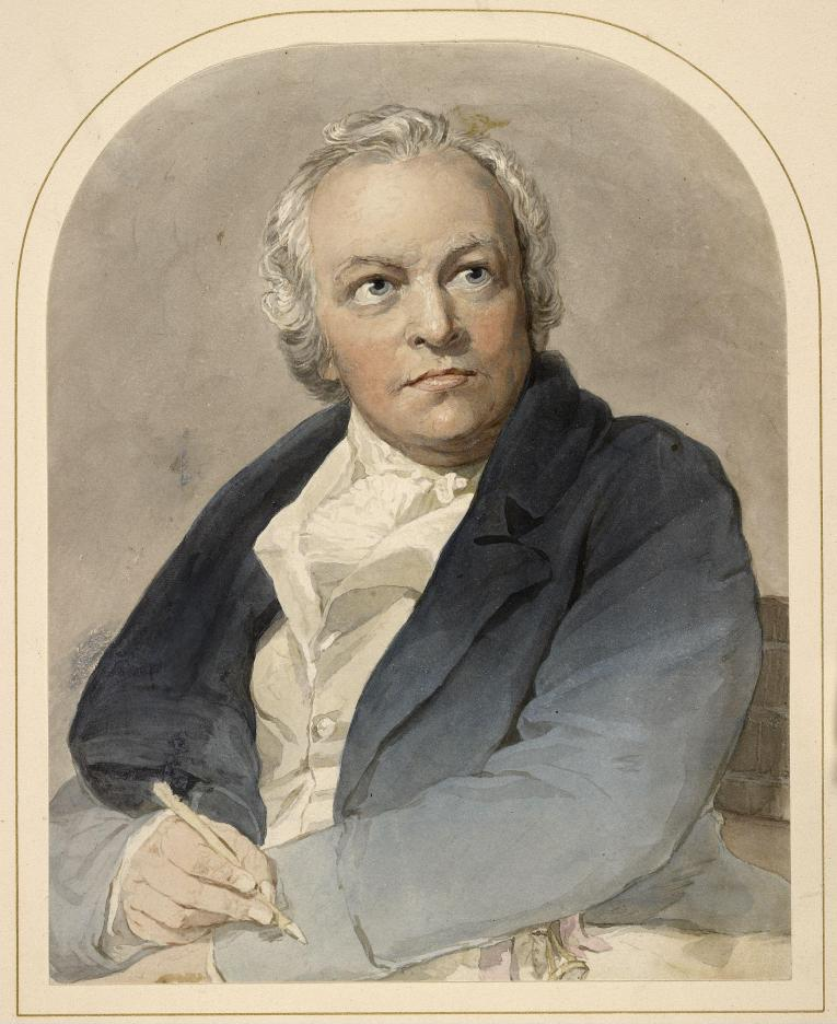 Retrato de William Blake por  Thomas Phillips (1770–1845), Watercolour on paper, 1807.