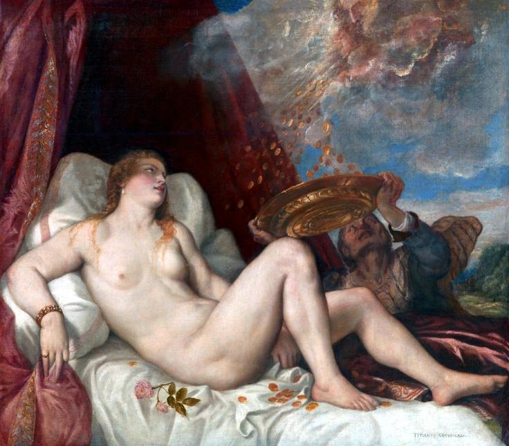 Danaë, by Titian