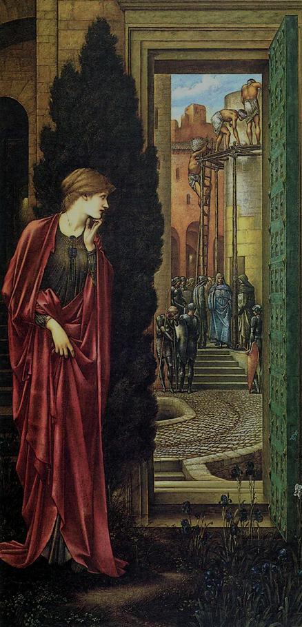 Danae y The Brazen Tower Edward Burne Jones WikiArt.org