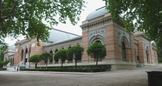 Palacio de Velazquez in Retiro Park in Madrid (Spain). Built in 1883.