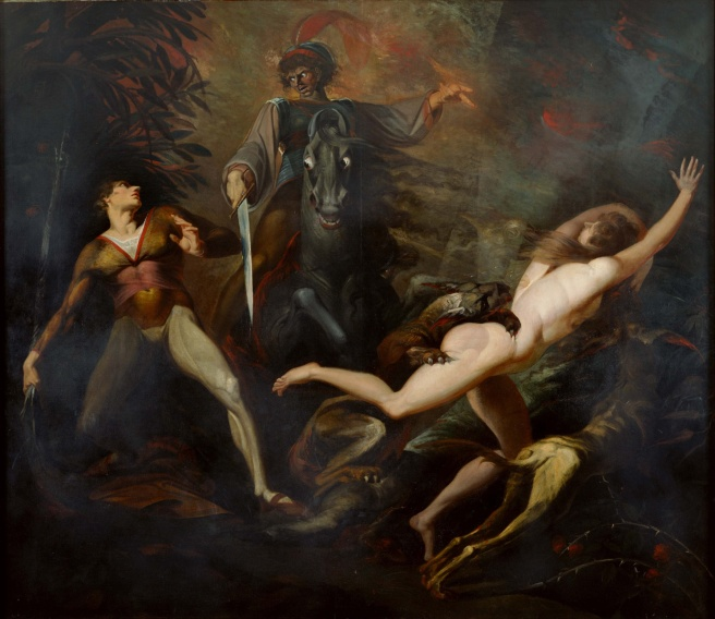 Johann_Heinrich_Füssli_-_Theodore_Meets_in_the_Wood_the_Spectre_of_His_Ancestor_Guido_Cavalcanti_-_Google_Art_Project (1)