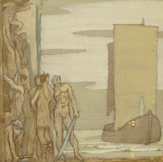 Robinson, Frederick Cayley, 1862-1927; The Landing of Saint Patrick in Ireland