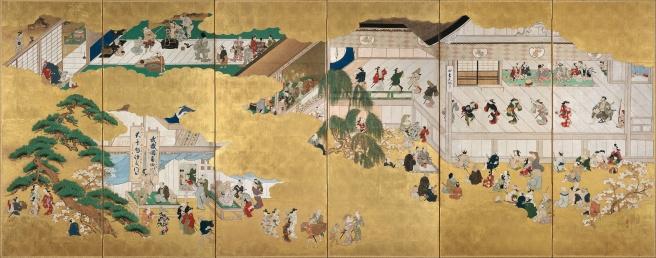 Hishikawa_Moronobu_-_Scenes_from_the_Nakamura_Kabuki_Theater_-_Google_Art_Project